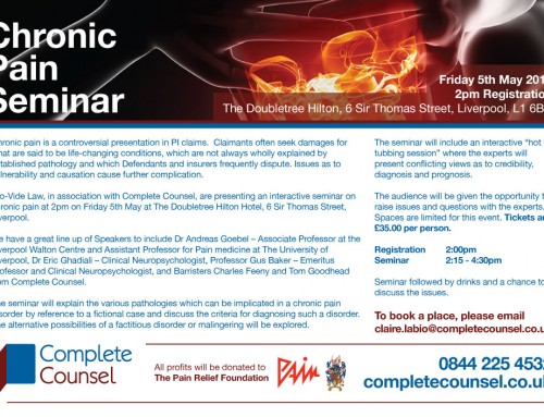 Come to our Chronic Pain Seminar